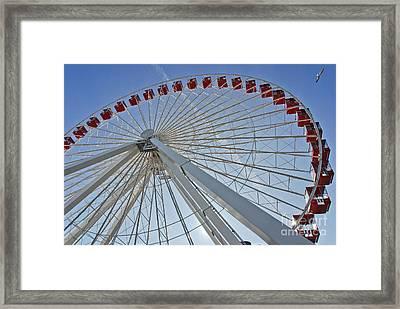 Ferris Wheel Framed Print by Oleksandr Koretskyi