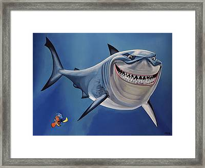 Finding Nemo Painting Framed Print by Paul Meijering