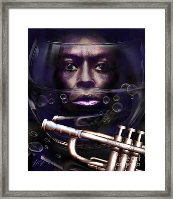 Fish Bowl Of Miles  Framed Print by Reggie Duffie