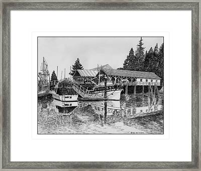 Fishermans Net Shed Gig Harbor Framed Print by Jack Pumphrey