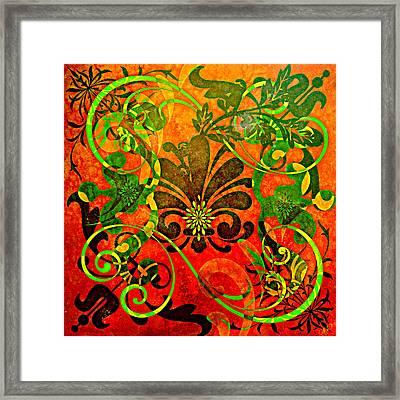 Fleur De Lis  Framed Print by Ally  White