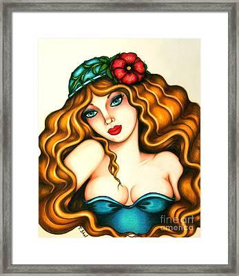 Flower Hat Framed Print by Tara  Shalton