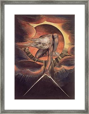 Frontispiece From 'europe. A Prophecy' Framed Print by William Blake