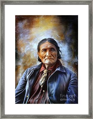 Geronimo Framed Print by Andrzej Szczerski