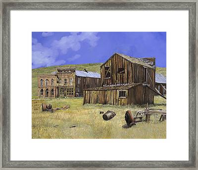 Ghost Town Of Bodie-california Framed Print by Guido Borelli