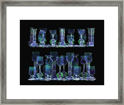 Glasses  - 111 Framed Print by Irmgard Schoendorf Welch