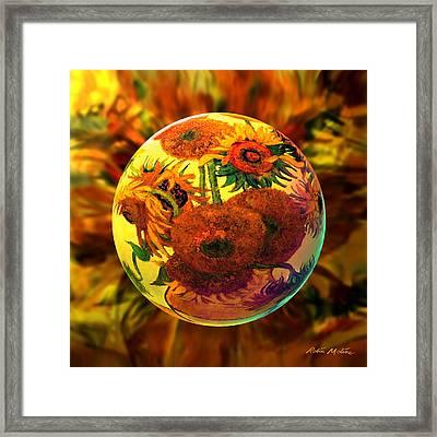 Van Globing Inflorescence Framed Print by Robin Moline