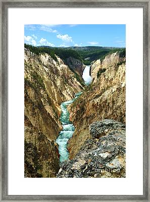 Grand Canyon Of Yellowstone National Park Framed Print by Micah May