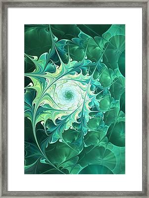 Green Magic Framed Print by Anastasiya Malakhova