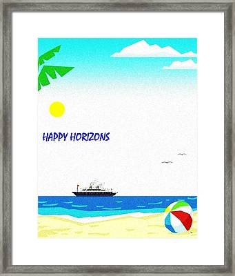 Happy Horizons Framed Print by Will Borden