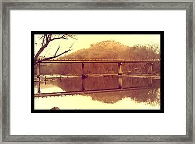 .  Highway 110 Bridge Near Heber Springs Arkansas Framed Print by Brian Hubmann