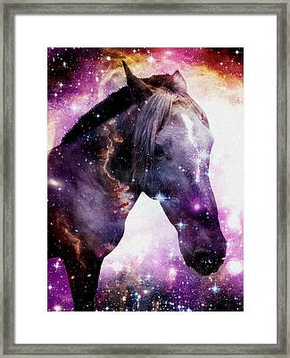 Horse In The Small Magellanic Cloud Framed Print by Anastasiya Malakhova