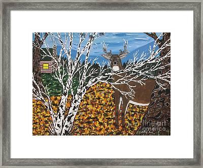 Hunter's Deer Camp Framed Print by Jeffrey Koss