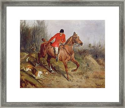 Hunting Scene Framed Print by John Alfred  Wheeler