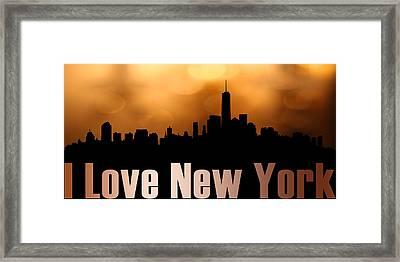 I Love New York Framed Print by Toppart Sweden