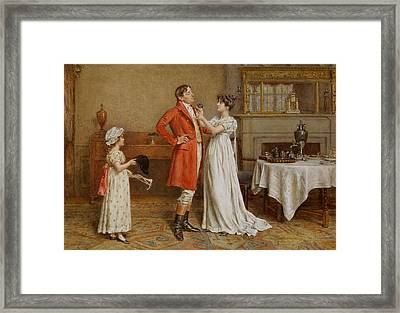 I Wish You Luck Framed Print by George Goodwin Kilburne