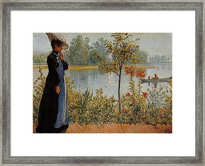 Indian Summer Framed Print by Carl Larsson