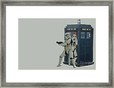163. Inform Lord Vader We Have The Tardis Framed Print by Tam Hazlewood