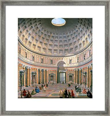 Interior Of The Pantheon Framed Print by Panini