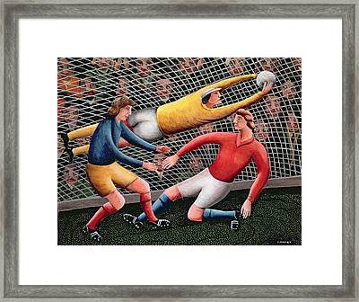 It's A Great Save Framed Print by Jerzy Marek