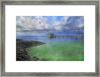 Jekyll Island Fishing Pier Framed Print by Betsy C Knapp