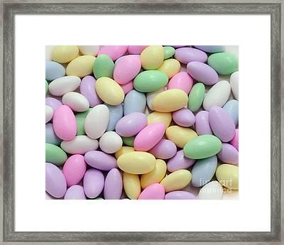 Jordan Almonds - Weddings - Candy Shop Framed Print by Andee Design