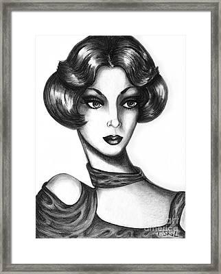 Lady Framed Print by Tara  Shalton