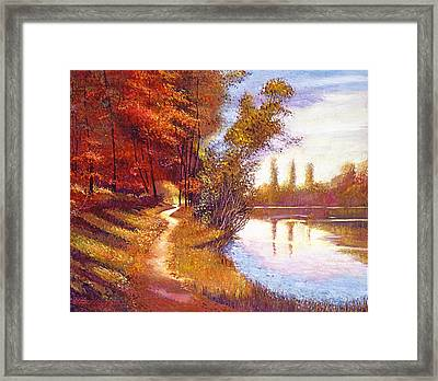 Lakeside Colors Framed Print by David Lloyd Glover