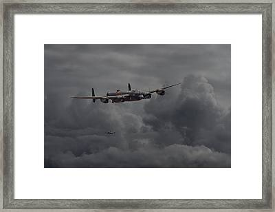 Lancaster - Heavy Weather Framed Print by Pat Speirs
