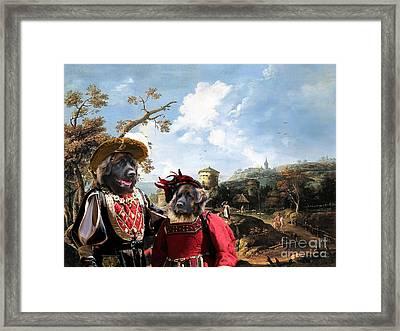 Leonberger Art Canvas Print Framed Print by Sandra Sij
