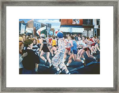 London Marathon Framed Print by Cristiana Angelini