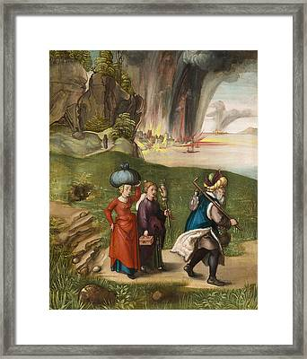 Lot And His Daughters Framed Print by Albrecht Durer