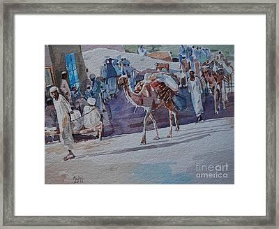 Market Framed Print by Mohamed Fadul