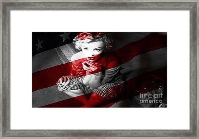 Marylin Monroe Framed Print by Marvin Blaine