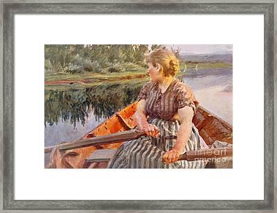 Midsummer Night Framed Print by Anders Leonard Zorn