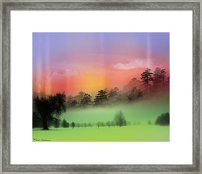 Mist Coloring Day Framed Print by Mark Ashkenazi