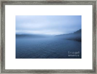 Mist In Otter Cove Framed Print by Diane Diederich