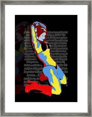 MJ Framed Print by Artist Singh