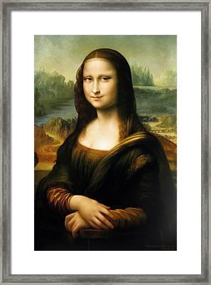 Mona Lisa Framed Print by Yoo Choong Yeul