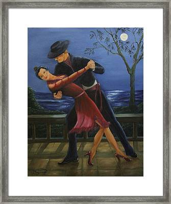 Moonlight  Tango Framed Print by Lou Magoncia