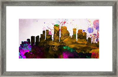 New Orleans City Skyline Framed Print by Naxart Studio