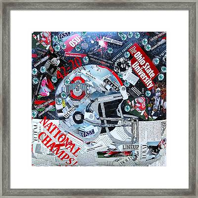 Ohio State University National Football Champs Framed Print by Colleen Taylor