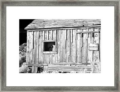 One Window Framed Print by Cat Connor