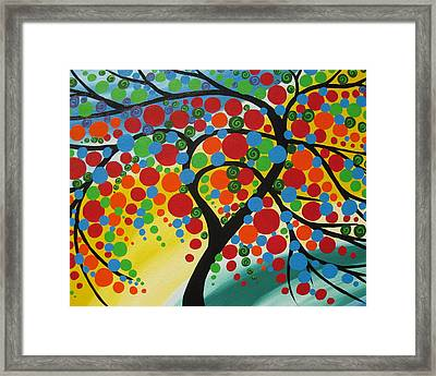 Orb Tree  Framed Print by Cathy Jacobs