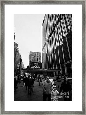 Outside Madison Square Garden New York City Winter Usa Framed Print by Joe Fox