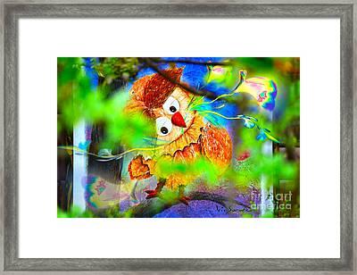 Owl Leaf Forest 2 Framed Print by Vin Kitayama