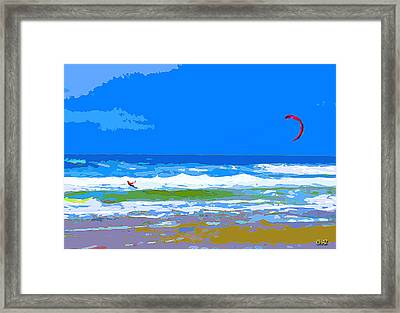 Para-surfer 2p Framed Print by CHAZ Daugherty