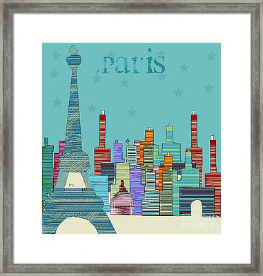 Paris Blues Framed Print by Bri B