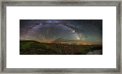 Pinnacles Overlook At Night Framed Print by Aaron J Groen