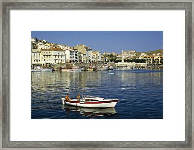 Port Vendres Harbour France 1980s Framed Print by David Davies